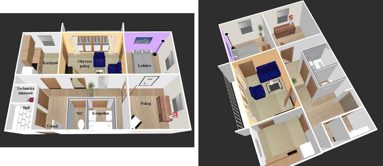 Půdorys bytu online